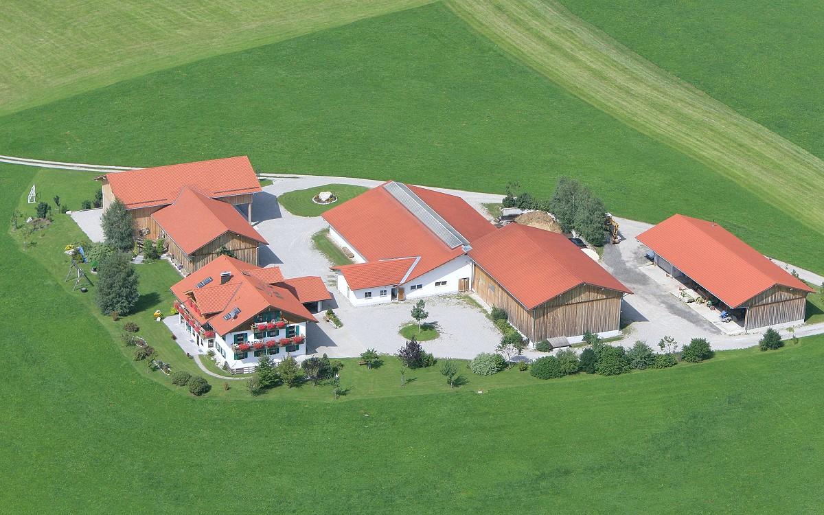 Luftbildaufnahme von unserem Ferienhof