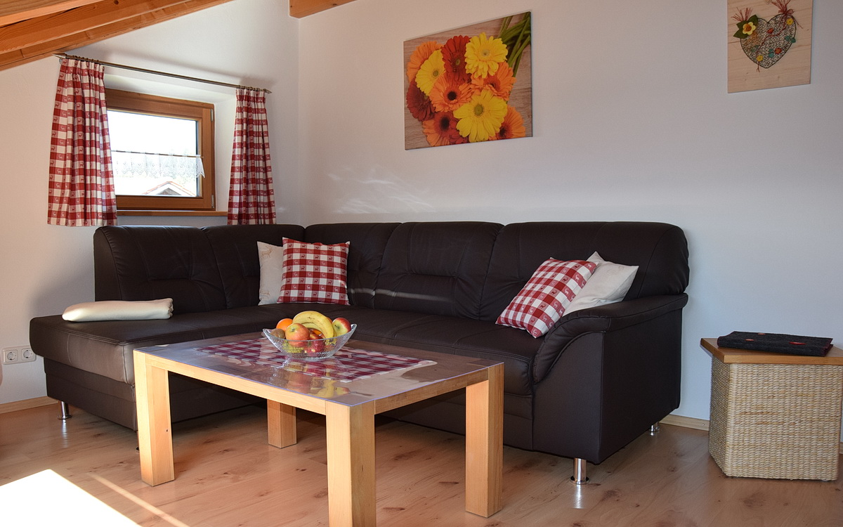 Sitzecke in der Ferienwohnung Breitenberg